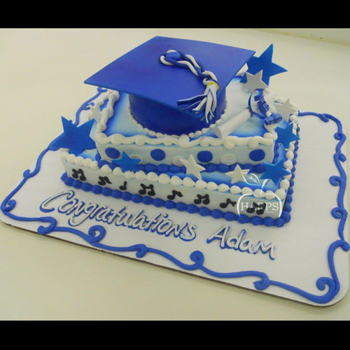 Stacked Graduation Hat