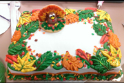 Thanksgiving Turkey Festooned With Fall Leaves