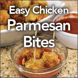 Easy Chicken Parmesan Bites