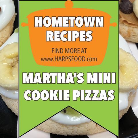Martha's Mini Cookie Pizzas