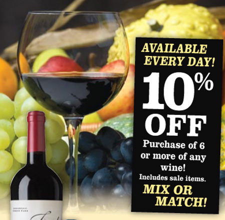 Picture of Wine 10% Off