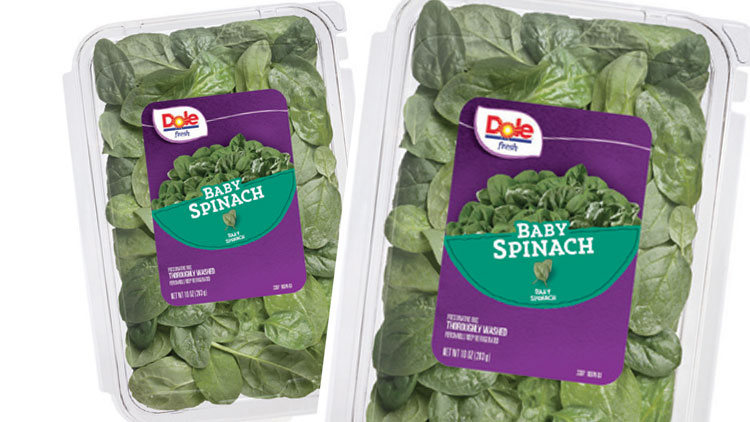 Picture of Dole Baby Spinach or Spring Mix Salad