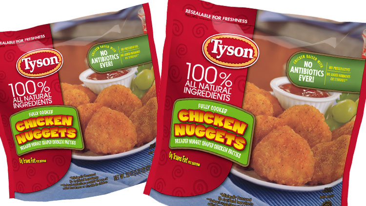 Picture of Tyson Breaded or Battered Chicken, Country Fried Steak or Steak Fingers