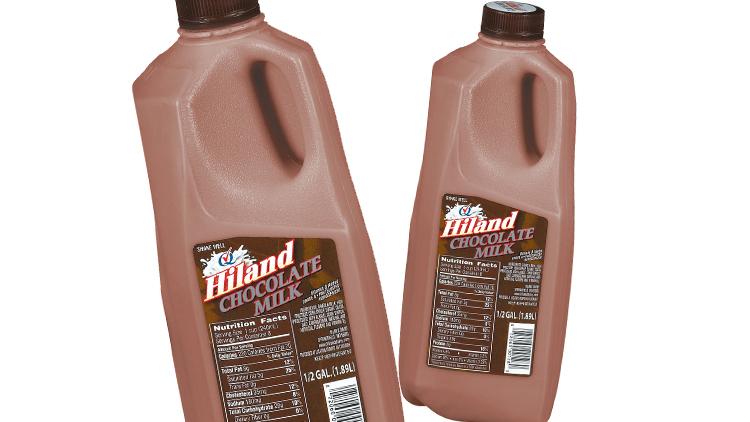 Picture of Hiland Chocolate Milk, Strawberry Milk or Orange Juice