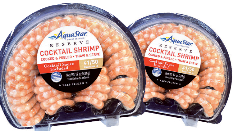 Picture of AquaStar Cocktail Shrimp with Cocktail Sauce