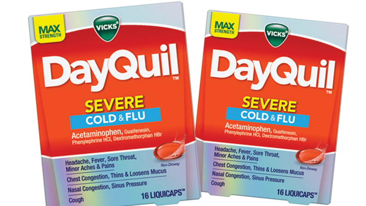 Picture of Vicks NyQuil or DayQuil Cold & Flu Medicine
