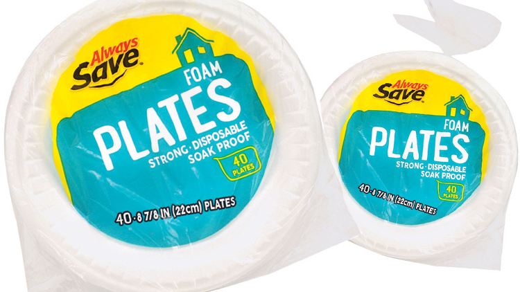 Picture of Always Save Foam Plates