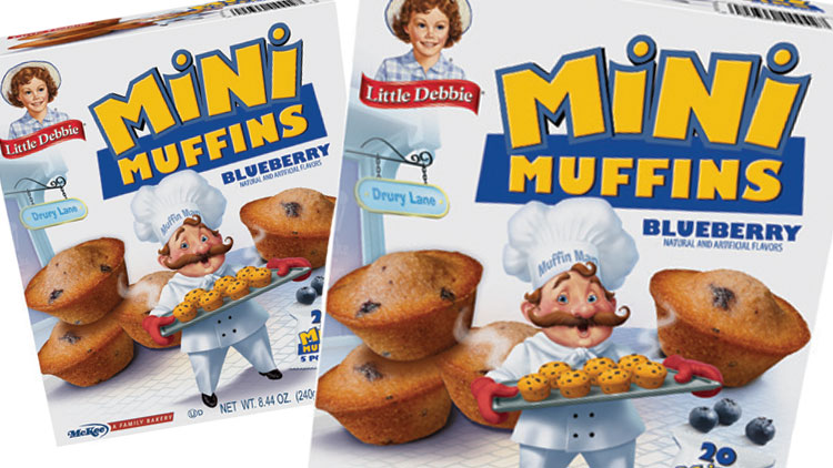 Picture of Little Debbie Mini Muffins or Mini Brownies
