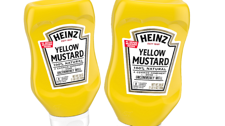 Picture of Heinz Tomato Ketchup or Yellow Mustard
