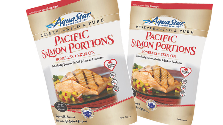 Picture of AquaStar Wild Pacific Salmon Portions