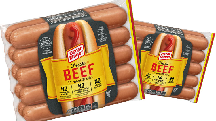 Picture of Oscar Mayer Beef Franks or Cheese Dogs