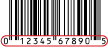 card bar code example